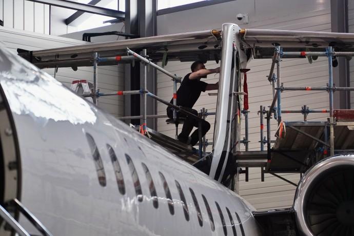 C-Check der Embraer Legacy 650