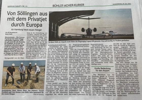Von Söllingen aus mit dem Privatjet durch Europa